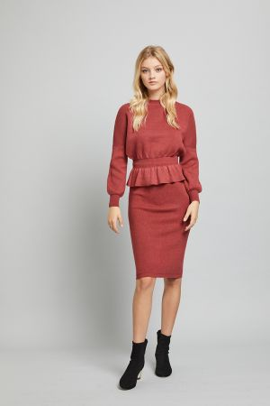ORIANA KNITTED PENCIL SKIRT