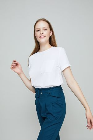 BRANDIE POCKET DETAIL TOP