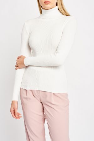 CAELAN HIGH NECK KNIT TOP