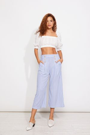 SAM WIDE LEG PANTS WITH BUTTONS