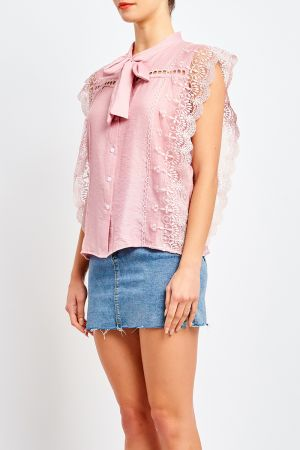 REGAL LACE TRIM TOP