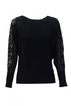 LACE PATCHED BATWING SLEEVE (324833)