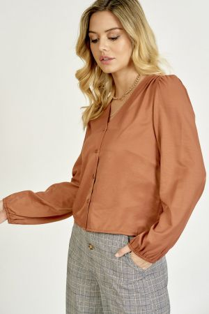 VOLUME SLEEVE BUTTON DOWN TOP (325325)