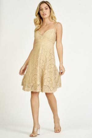 FIT&FLARE LACE DRESS (325439)
