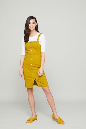 ELODIE BUTTON FRONT DRESS