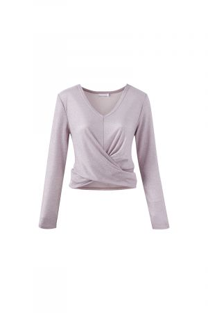 ORION LONG SLEEVE CROSS FRONT TOP