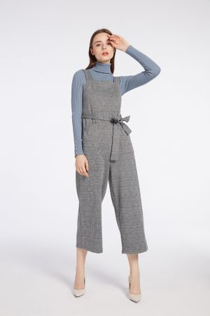 JUDY PINAFORE JUMPSUIT WITH POCKETS