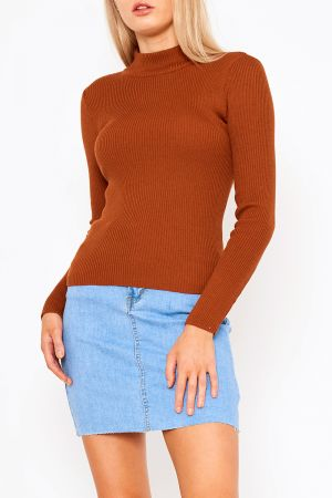 MARIELLE HIGH NECK KNIT TOP