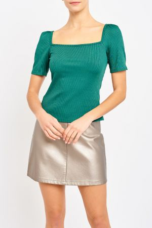 LUXE SQUARE NECK TOP