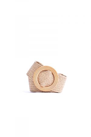 Cork Round thick straw multi-length belt
