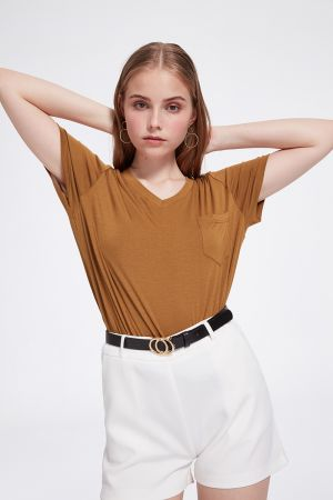 LOUISE VEE NECK TEE