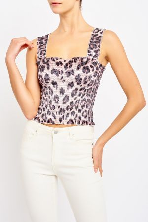 INDIANNA SHIRRED TOP