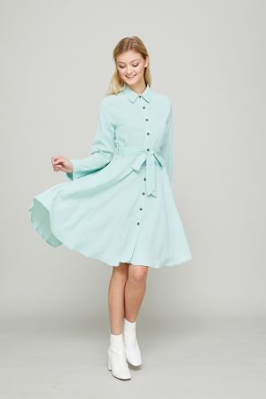 IRENE FIT AND FLARE SHIRT DRESS