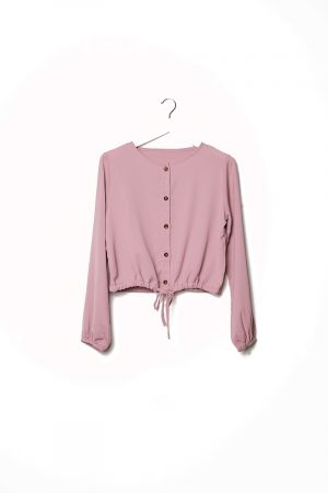 ALECIA BUTTON FRONT BLOUSE