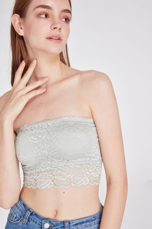 GUILIA LACE BANDEAU TOP