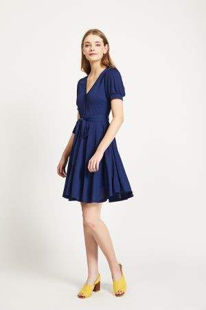 VELIKA FIT AND FLARE DRESS