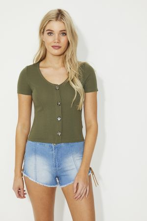 REMI BUTTON DETAIL TOP