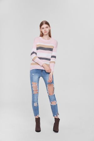JESS STRIPED KNIT TOP
