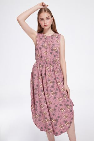 MARTINA CURVED HEM DRESS