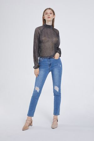 FILLY TURTLE NECK BLOUSE