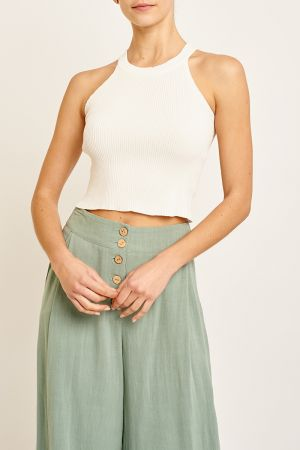 LUCY KNIT CROP TOP