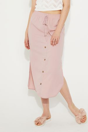 EDLYN SPLIT SIDE MIDI SKIRT