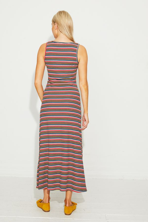 KATALINA TWIST KNOT STRIPE DRESS