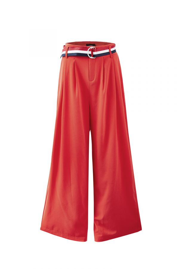 RIVIERA WIDE LEG PANT WITH BELT