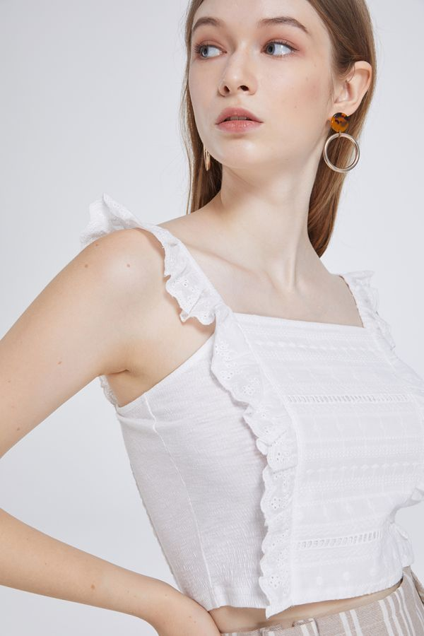 LUCCA FRILL CROP SINGLET