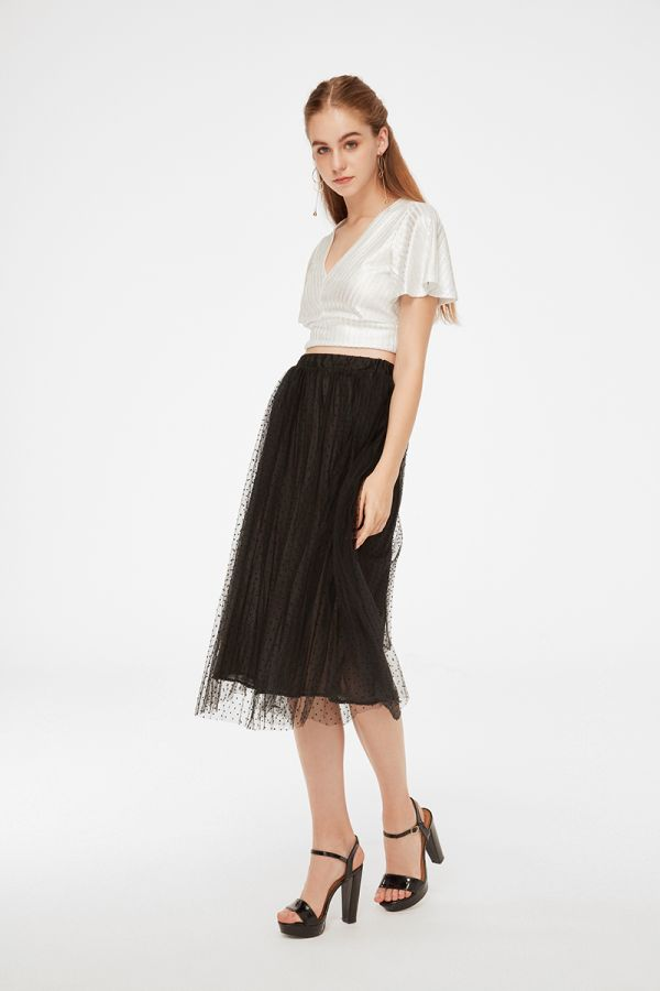 MARGE CROP BELL SLEEVE SKIRT