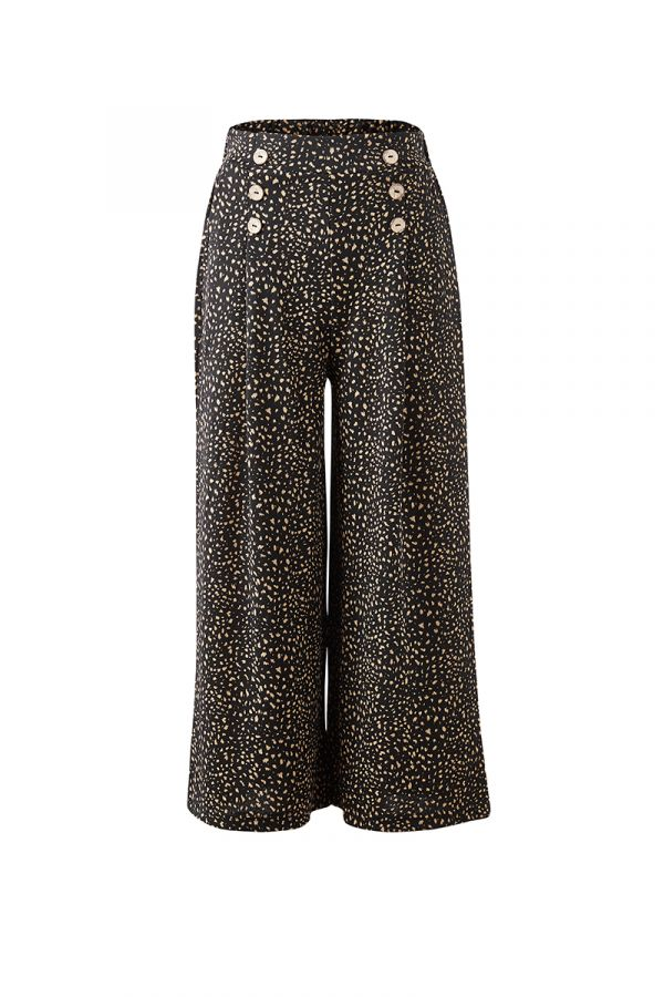SAM WIDE LEG PANTS WITH BUTTONS (320299)