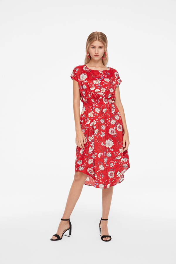 ANAIS CAP SLEEVE SHIRT HEM DRESS