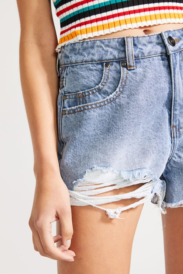 SHARON DISTRESSED DENIM SHORTS