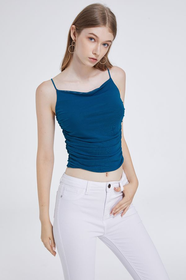RUCHED CROP SINGLET (321586)