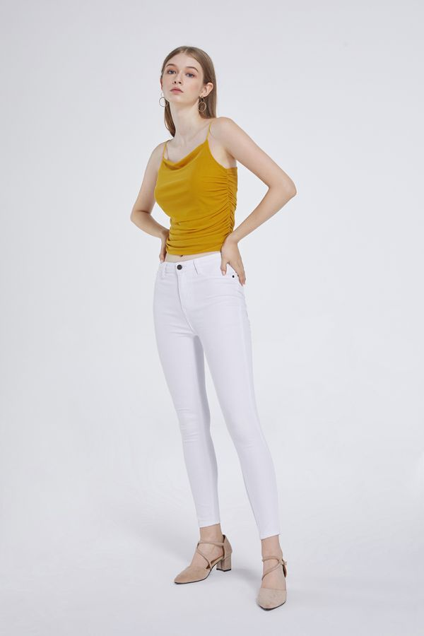 RUCHED CROP SINGLET