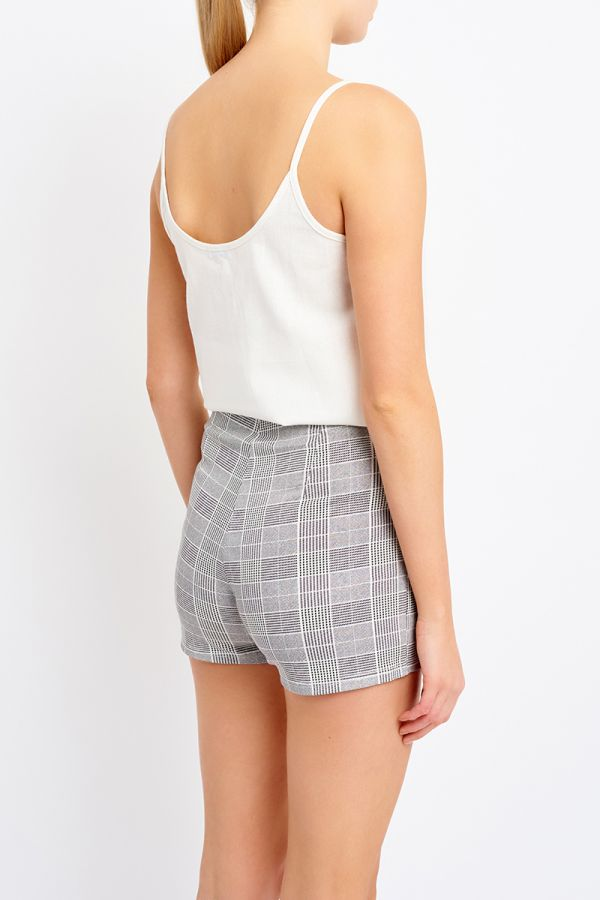 ZIP DETAIL HIGH WAIST SHORTS (321769)