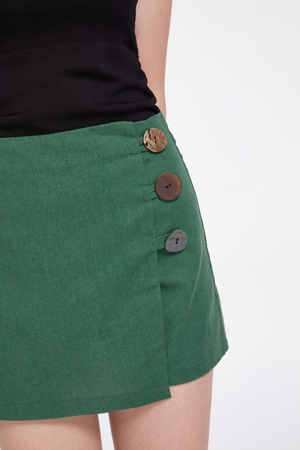 MAYA BUTTON MINI SKORT
