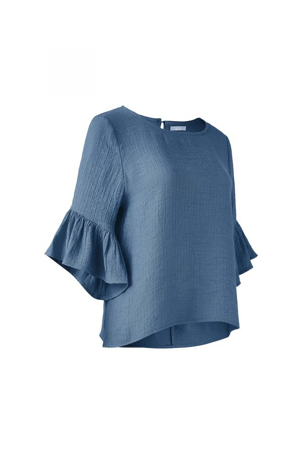 DORA RUFFLE SLEEVE TOP (322005)