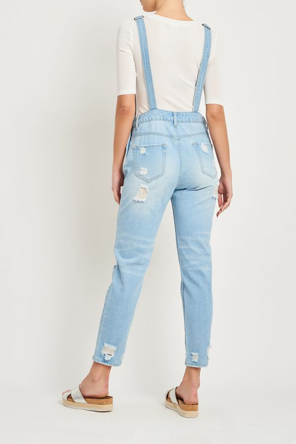 DANIELA DISTRESS DENIM OVERALL