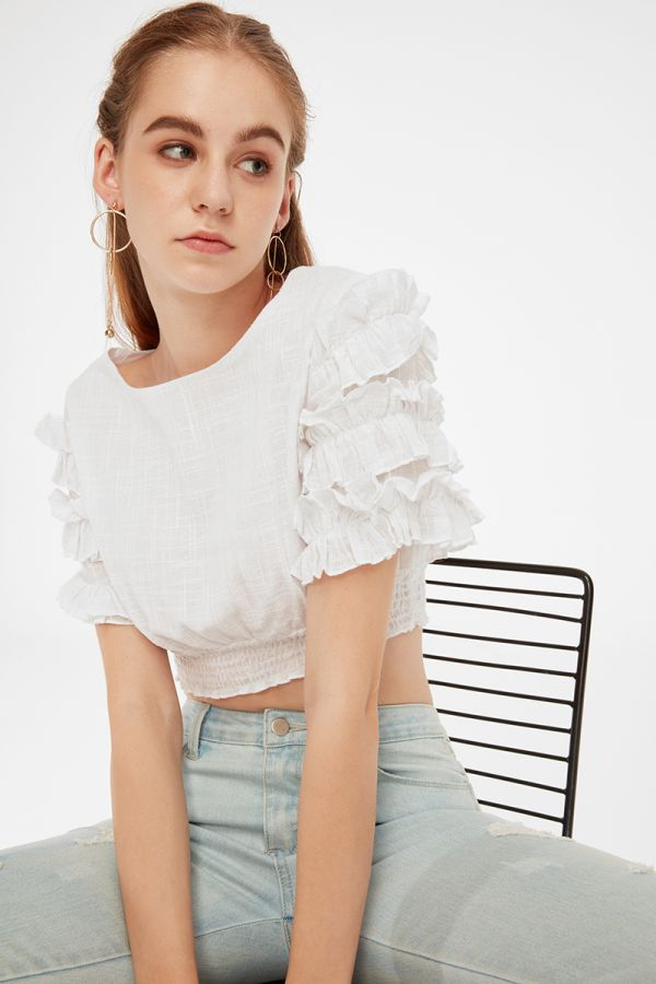 SENORITA CROP BLOUSE