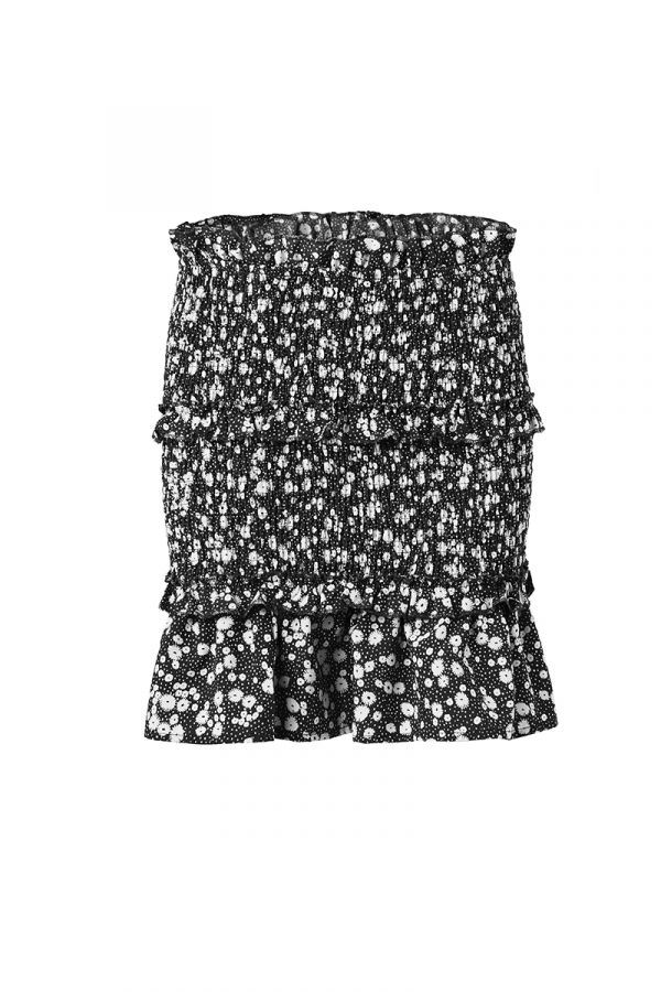OLIVIA SMOCKED MINI SKIRT