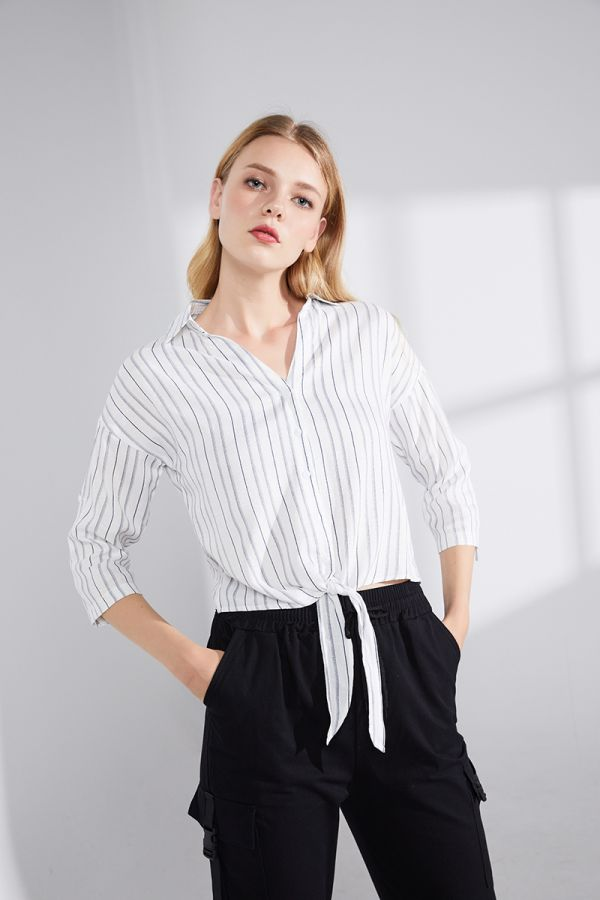 CHERRY TIE FRONT TOP (322619)