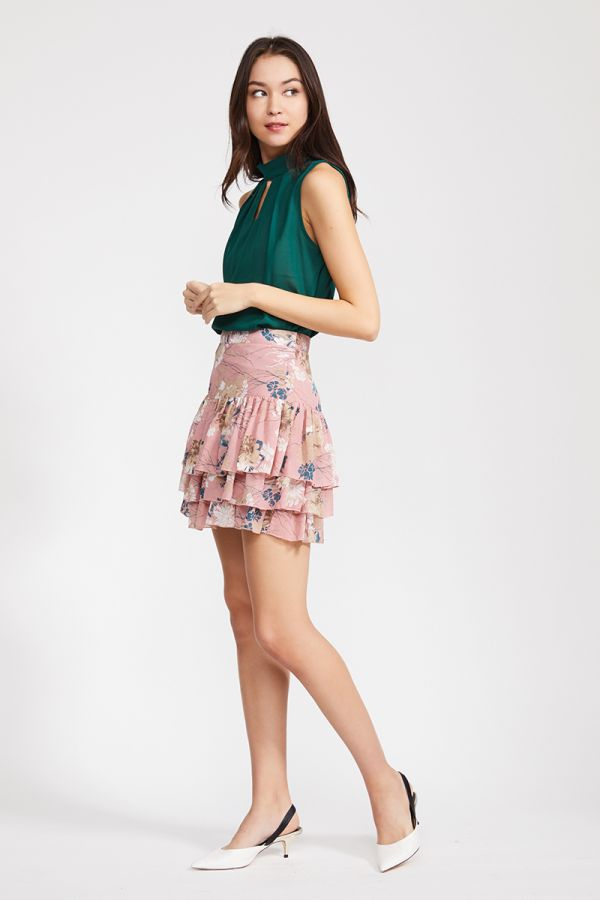 DANA RUFFLE MINI SKIRT