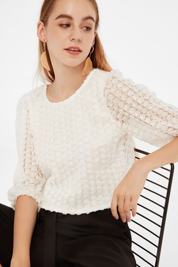 LEAH ELBOW SLEEVE TOP