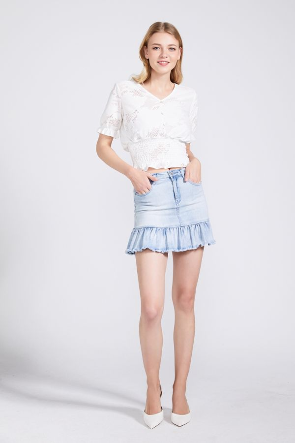 ANDREA MINI DENIM SKIRT (322799)