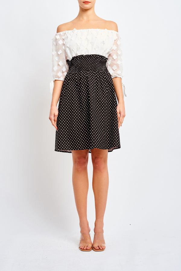 JULIETTE CONTRAST DRESS