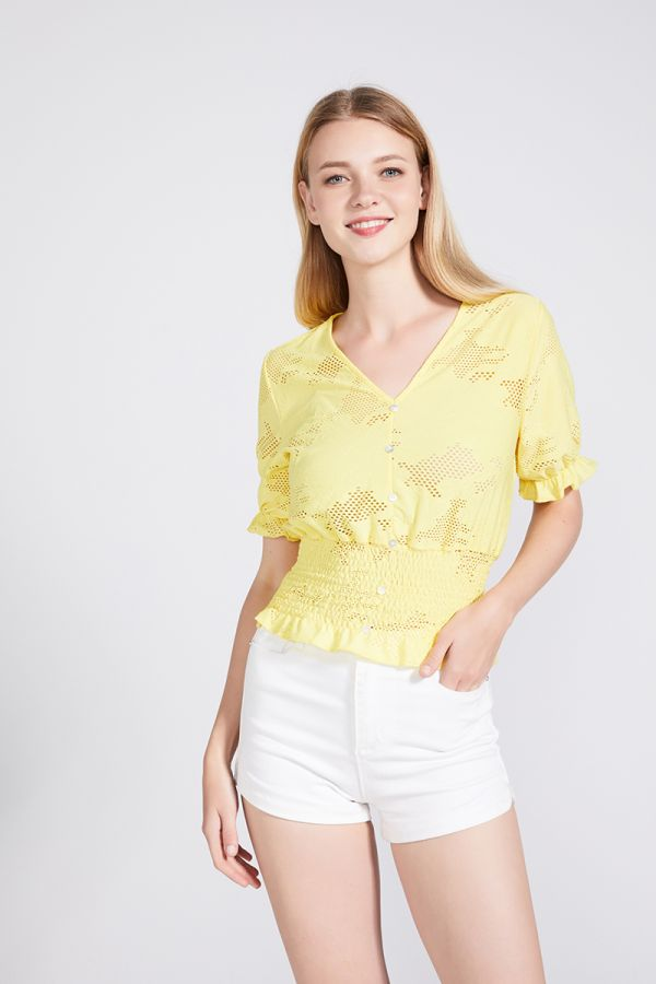 LILA V-NECK BLOUSE