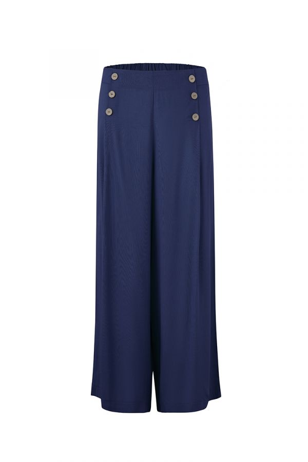 MALENA BUTTON DETAIL WIDE LEG PANTS (323103)
