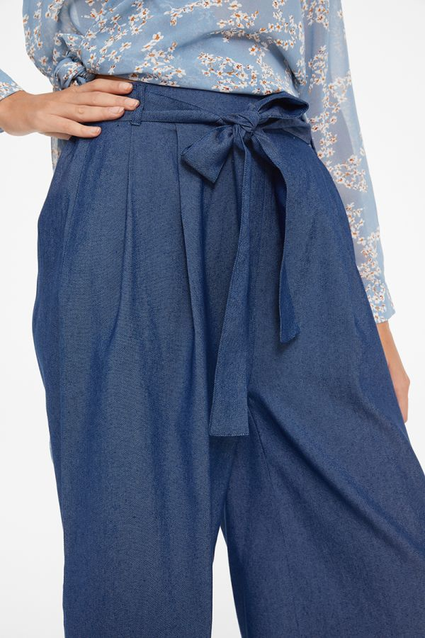 MAUREEN TIE WAIST WIDE LEG PANTS