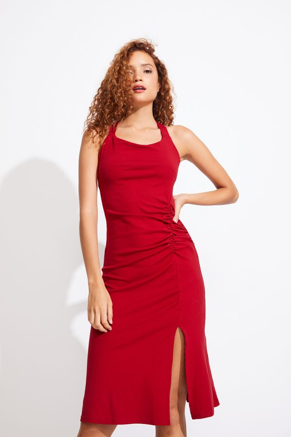 VALENTINA CROSS BACK MIDI DRESS